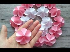 10 Origami for Christmas Decorations Paper Flowers Craft, Paper Crafts Origami, Flower Crafts, Diy Flowers, Diy Paper, Flower Diy, Color Paper Crafts, Flower Paper, Diy Fleur