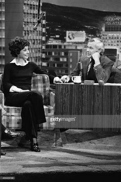 """The actress Audrey Hepburn (Signora Andrea Dotti) photographed with Johnny Carson byFred Sabineduring an interview about her return to movies in """"Robin and Marian"""" at """"The Tonight Show Starring Johnny Carson; at theNBC Studiosin Burbank, California (USA), on March 30, 1976."""