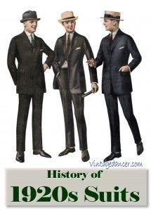 The Suit: 1920s Mens Fashion History http://www.vintagedancer.com/1920s/1920s-mens-fashion-the-suit/