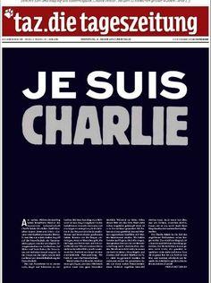 Portada de Die Tageszeitung (Alemania) el día después del ataque a Charlie Hebdo. Satire, Charlie Hebdo, Page Online, Political Issues, Seo Tips, Newspaper, No Response, Freedom, Europe