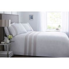 From our exclusive J by Jasper Conran range, this duvet set is ideal for lifting a bedroom setting with clean and minimalistic charm. Designed with a stylish striped print to create a contemporary contrast against the classic white base, it is made from a soft cotton blend for irresistible comfort.