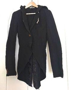COMME DES GARCONS HOMME PLUS - HOODED BLACK JACKET - Size S #COMMEDESGARCONSHOMMEPLUS #HOODEDJACKET