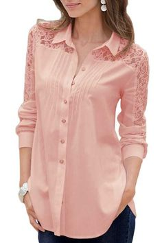 Cute pink lace tops ,need to try Casual Dresses, Fashion Dresses, Casual Outfits, Kurta Designs, Blouse Designs, Sewing Blouses, Pink Lace Tops, Blouse And Skirt, Blouse Styles