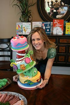 Check out this amazing Dr. Seuss cake!  And Everything Sweet's very own Kate made this with lots of patience and love!  Wish I had an ounce of that talent!