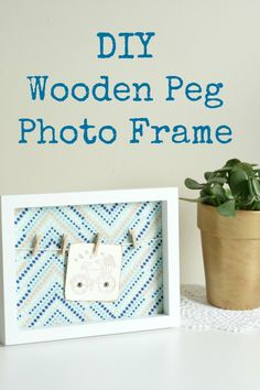 DIY-Wooden-Peg-Photo-Frame by Claireabellemakes.con