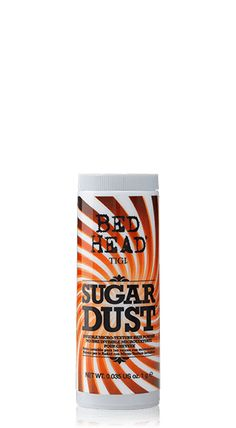 Finally!! A product that REALLY works for fine hair! Super light weight and nearly invisible, this stuff is fantastic when it comes to adding volume at your roots! Bed Head by TIGI | Products | Styling | Candy Fixations | Sugar Dust