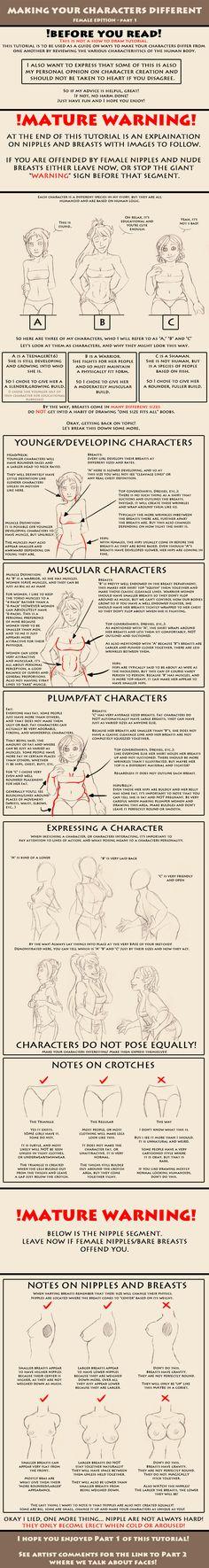 Making your characters different! Women - Part1 by JeniferHarris.deviantart.com on @deviantART