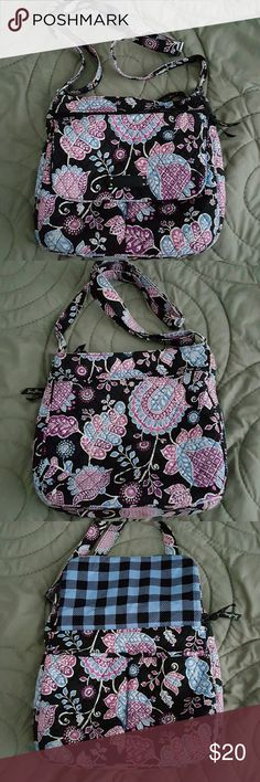 🙈SOLD🙉🙊Vera Bradley Crossbody in Alpine Floral Used Vera Bradley crossbody in Alpine Floral. Very slight wear on bottom corners otherwise in great condition. Washed once. Vera Bradley Bags Crossbody Bags