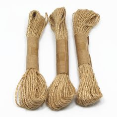 Natural String Jute Twines Hemp Rope For Gift Wrap Decorative Hanging Tying Present Box 3 Roll 98 Feet Promotion (String) ** Continue to the product at the image link.