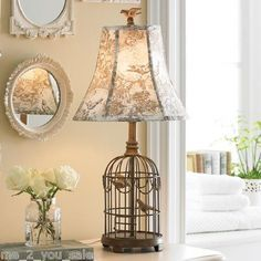 Bird lamp home industrial style pinterest bird lights and ide dco 6 les cages oiseaux aloadofball Images
