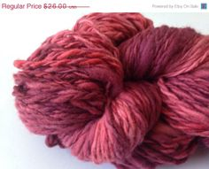 Handspun Pink 9 wpi Worsted 150 yards. 100 by RanchingTradition, $19.50