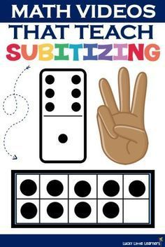 Subitizing, or the ability to recognize the total number of objects without counting, is a foundational math skill that young learners need to master. Numbers Kindergarten, Math Numbers, Preschool Math, Math Classroom, Kindergarten Math Centers, Decomposing Numbers, Math For Kids, Fun Math, Maths