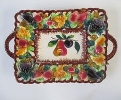 Fruit Plate Vintage Platter Made in Italy by HobbitHouse on Etsy