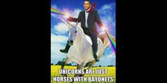 Obama is like a majestic unicorn.Therefore having Obama ride a unicorn with rainbows shooting from his hands is like majesticaler. Sam Dean, Dean Castiel, Sammy Supernatural, Mirai Nikki, Yandere, Jeremy Corbyn, We Are The World, Funny Bunnies, Misha Collins