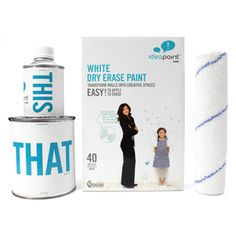 IdeaPaint - Dry Erase Paint.  Turns any surface into a dry erase board.  Lowes.com