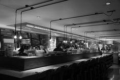 Lighting by PSLab for Diener & Diener Architekten on Sticks 'N' Sushi restaurant, London.