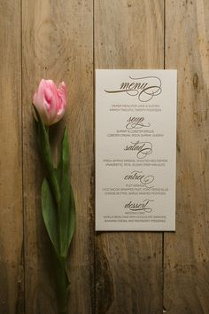 Menus for Any Suite! Calligraphy wedding menus, gold wedding menus, letterpress wedding menus: goes with the invitations you like. Perhaps they can do the program in the same style.