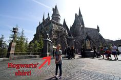 """By the way — if your kid wears house robes or a Hogwarts shirt into Hogwarts, a team member might say, """"Welcome back!"""" 