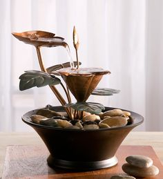 Blooming #Flower Metal Indoor #Fountain