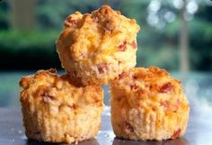 Havarti and Ham Muffins, using Dofino Havarti with Dill