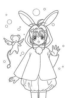 The Cardcaptor Museum Line Art Coloring Pages Coloring Books