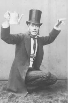 """George Grossmith as John Wellington Wells in the original 1877 production of """"The Sorcerer"""" at the Opera Comique."""