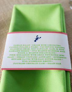 Green and Pink Menu Card