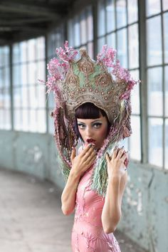 Head pieces and masks on Fashion Served