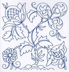 Jacobean Embroidery Pattern                                                                                                                                                                                 More