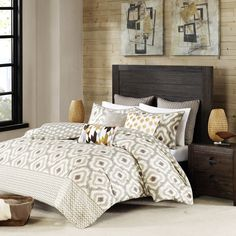 INK+IVY Ankara Neutral Comforter 3 Piece Set | Overstock.com Shopping - The Best Deals on Comforter Sets