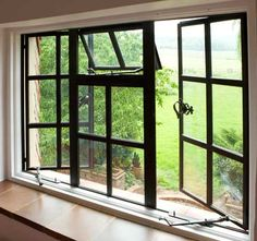 Browse thousands photos of Casement Windows that will inspire you. Find ideas and inspiration for Casement Windows to add to your own home. Steel Doors And Windows, Metal Windows, Aluminium Windows, Black Windows, Casement Windows, Aluminum Windows Design, Crittall Windows, French Windows, Wooden Windows