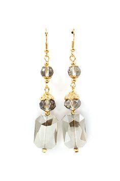 Vitrail Kira Earrings in Black Diamond on Emma Stine Limited