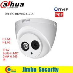 Dahua IP Camera 2MP IPC-HDW4231C-A lens 3.6mm Full HD 1080P H.265 security Network Camera IR Support POE With Audio Built-in MIC
