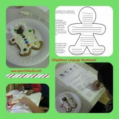 Something fun before the holiday break...teaching a language lesson with a gingerbread man!  Includes four FREEBIE printables.
