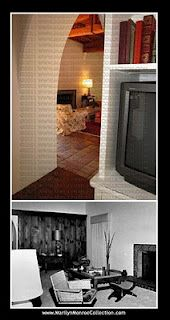 Marilyn's house Then and Now