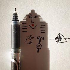 Vincent Bal fait des dessins avec des ombres dobjets  Dessein de dessin