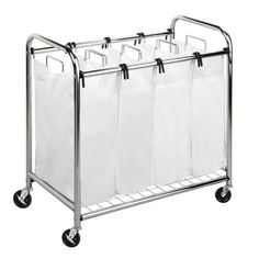 Honey-Can-Do SRT-01158 Chrome Heavy-Duty Quad Laundry Sorter