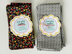 Best napkin tutorial -M Nine Minute Everyday Napkins Tutorial from Gingercake. Dress Sewing Tutorials, Sewing Hacks, Sewing Crafts, Sewing Patterns, Quilt Patterns, Small Sewing Projects, Fun Projects, Couture, A Table