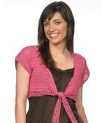 LC1508 Tie Front Top - free crochet pattern