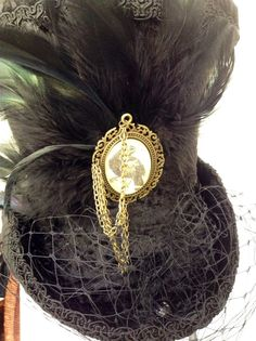 Raven's Mad hatter Victorian mourning/riding hat
