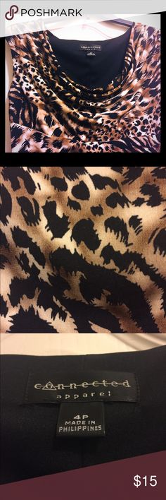 *PRICE DROP* Animal Print Dress This sexy animal print dress is perfect for a date. It falls above the knee and clings tightly.   It has only been worn a handful of times. Dresses Mini