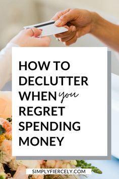Decluttering your home is never an easy task, especially when you regret spending money. Here are three tips that helped me find peace with letting go. #decluttering #minimalism Debt Free Living, Declutter Your Life, Clutter Free Home, Feeling Overwhelmed, Finding Peace, Decluttering, Simple Living, Regrets, Hygge