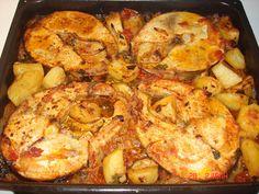 ΞΙΦΙΑΣ ΣΤΟ ΦΟΥΡΝΟ | Μαγειρική με πάθος Light Recipes, Paella, Seafood, I Am Awesome, Recipies, Meat, Chicken, Ethnic Recipes, Greek