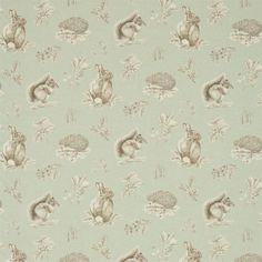 Sanderson - Traditional to contemporary, high quality designer fabrics and wallpapers   Products   British/UK Fabric and Wallpapers   Squirrel & Hedgehog (DWOW225522)   Woodland Walk