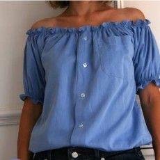 Transformez une chemise d'homme en jolie blouse féminine grâce à ce DIY ! DIY Blouse