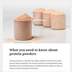 Here is what you need to know about protein powders Guide