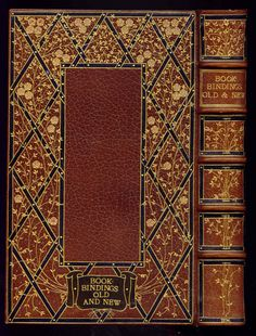 Book-bindings, old and new: yes, that is what we have in the John Wilson Special Collections, including this beauty bound by Alfred de Sauty (1870-1949), a bookbinder who produced tooled bindings of exceptional grace and charm. http://multcolib.bibliocommons.com/item/show/1330613068