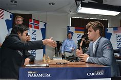 Nakamura 1/2 Carlsen - Round 5 of Sinquefield Cup 2013 - Photo by Chessbase - Follow on www.chess-and-strategy.com