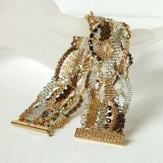 Linda Roberts - freeform bracelet another view