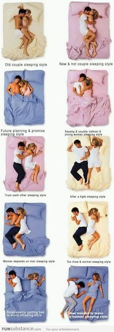 Couple's Sleeping Positions Old Couple Sleeping Style for Hollis and I
